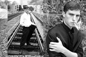 The November Issue of 160G Magazine is Shot on Train Tracks