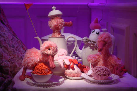 Trippy Tea Party Displays