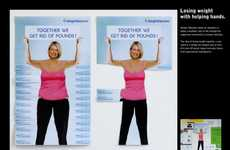Paper Liposuction Simulations - The New Weight Watchers Ad Lets You Peel Off lbs