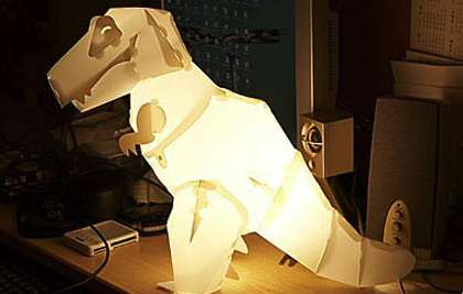 DIY Dino Lighting - Think Geek Creates Mega Mesozoic Craft Lamps