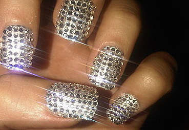 Disco Ball Nails