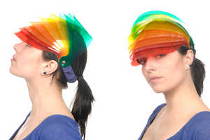 Nikki Giling Hats are a Rainbow on Your Head