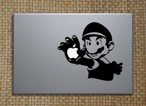 Geeky Laptop Decals - MacSlaps LEGO, Pac-Man and Mario Decals Let Your Nerd Colors Show