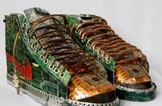 Circuit Board Sneakers - Gabriel Dishaw Creates Metallic Footwear Masterpiece