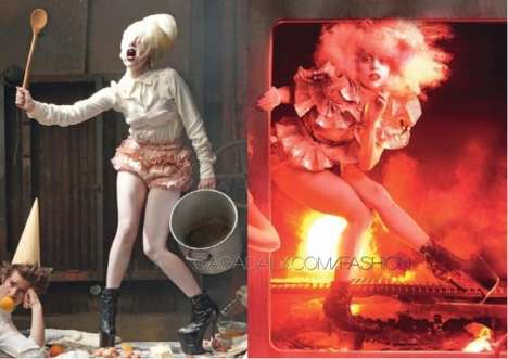 Fireplace Fairytale Fashion - Lady Gaga Enchants in US Vogue