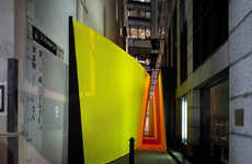 Interactive Lemon Laneways - 'The Meeting Place' Brings Strangers Together
