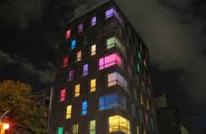 Illuminating Colorpartments - The Luxury Loft Light Show is an Artistic Marketing Ploy