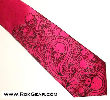 Mixed Ink Neckties - A RokGear Silk Screen Necktie is a Hip Accessory for any Man