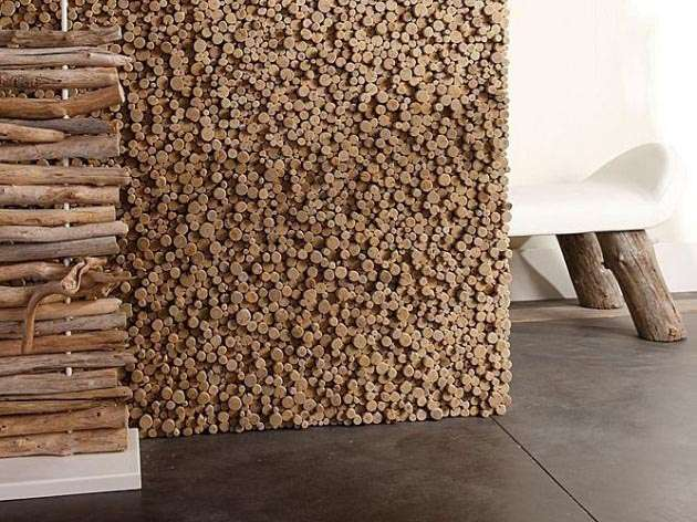 Pixelated Wooden Walls
