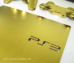 Gold-Plated Consoles - Computer Choppers Gives the Midas Touch to the Golden PS3 Slim