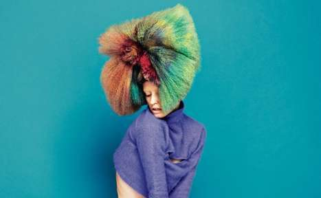 Tie-Dyed Hair - Dazed & Confused Highlights Attention-Grabbing Rainbow-Colored Hairstyles