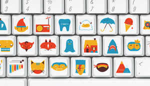 These Keyboard Stickers Replace Letters with Illustrations