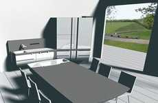 Socialization Kitchens - The Robert Lange Concept Kitchen Makes You Interact With Others