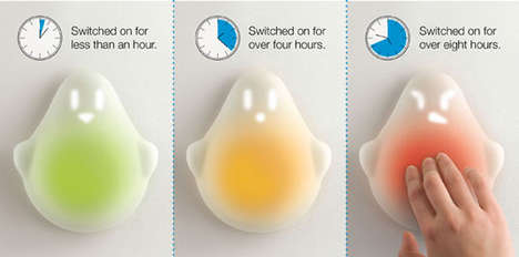 Color-Changing Eco Lamps - The Tio Ghost Light Teaches Kids to Conserve Energy