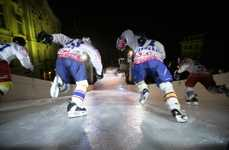 Roller Derby Meets Hockey at the Red Bull Crashed Ice Competition