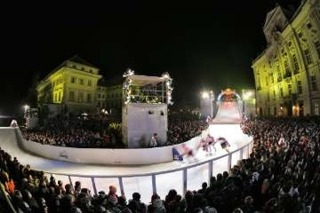 Downhill Ice Skating