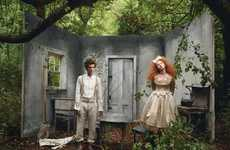 Lily Cole and Lady Gaga in 'Little Girl and Boy Lost' for Vogue