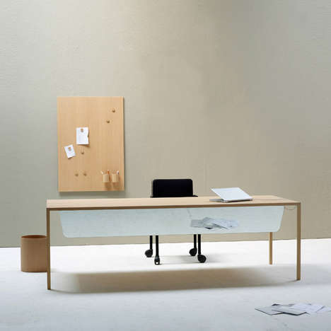 Minimalist Home Offices - The Slim Office by Bertjan Pot Eliminates the Extraneous