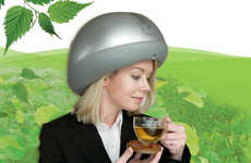 Massaging Helmets - The Headtime Scalp Massager by Kinatech Soothes Your Noggin