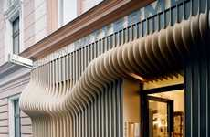 3D Hairstyle Facades - The Hair Couture Salon Exterior Design by X Architekten