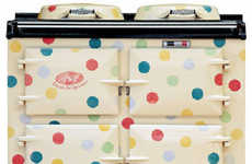 Polka-Dot Stoves - The AGA Rangemaster 'Great British Cooker' Line for Retro Glam Kitche