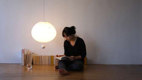 Floating Lighting Fixtures - The Fiat Lux Lamp Levitates the Ball Below