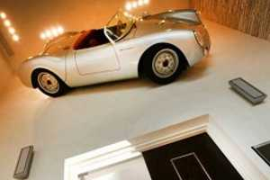 Gil Dezer Mounted a Real 1950 Porsche Spyder 550 on His Walls