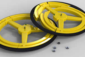 The Anti-Theft Collapsible Bike Wheel Deceives Bike Thieves