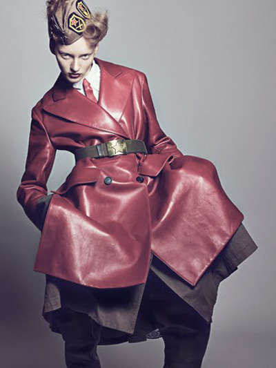 Retro Military Fashion - Womenswear-Centric in Dazed & Confused Japan