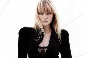 Freckled Supermodel Caroline Trentini in 'Noir' in Numero Korea #16