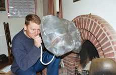 Inflatable Chimney Pillows - Balloons Retrofit Fireplaces to Block Energy-Wasting Drafts