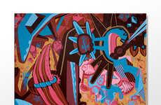 Hypercolor Religious Abstract