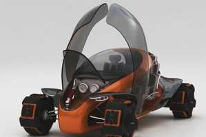 The Sports Coupe by Batyr Ospanov Changes Shape According to Terrain