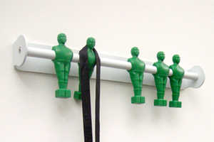 The Foosball Player Coat Hangers are Sporty Fun