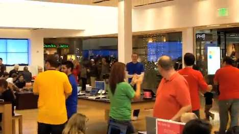 Spontaneous Employee Dances - This Electric Slide at Microsoft Store Video Makes Me Glad I Buy Apple