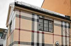 Branded Exterior Paint - The Norway House Has a Burberry Paint Job