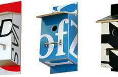 Billboards Recycled into Birdhouses