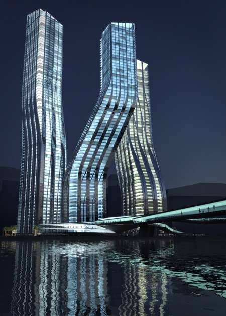 The Dancing Towers - Dubai Business Bay Development
