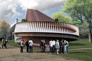 2007 Addition is a Snail Shaped Timber Structure