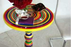 The Colorful and Striped Pirueta Table by Piey Design