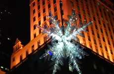 Humanitarian Holiday Stunts - Lucy Liu and the UNICEF Snowflake Light Up New York City