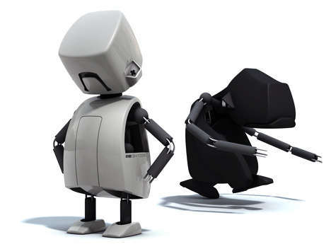 72 Cartoonish Robots