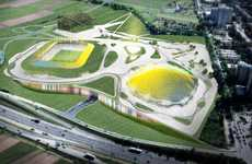 Color-Changing Stadiums - The Slovenia Sports Park Stozice is a Weather-Sensitive Structure
