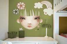 Anime Face Walls