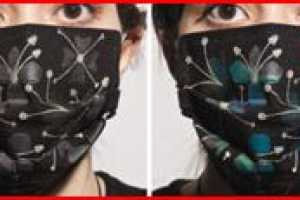 Temperature Sensing Masks Tell the World You're Contagious