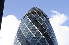 The Gherkin and The Swiss Re Tower in London