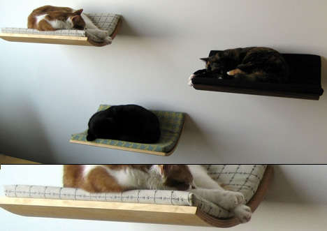 Slumbering Pet Shelves - Curve Pet Beds are a Stylish Sleep Haven For Your Beloved Animal