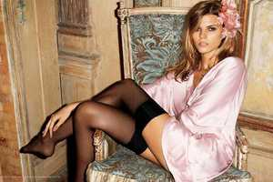 Lingerie-Clad Maryna Linchuk by Terry Richardson for H&M