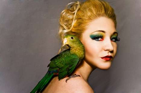 Avian Makeup - Aaron McPolin 'Birdy' & 'Colour' Series Showcases Artistic Beauty Shots
