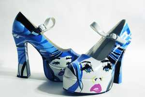 Studio Jellyfish Adds Eye Popping Graphics to Girlie Shoes
